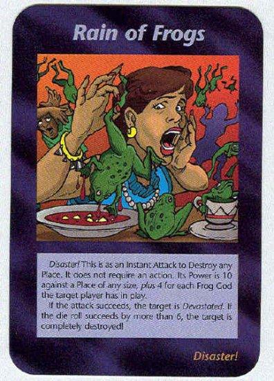 Illuminati Rain Of Frogs New World Order Game Trading Card
