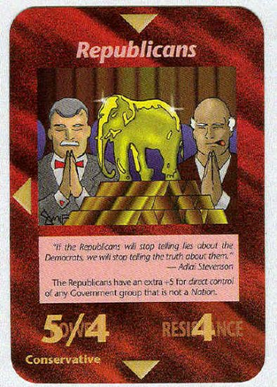 Illuminati Republicans New World Order Game Trading Card