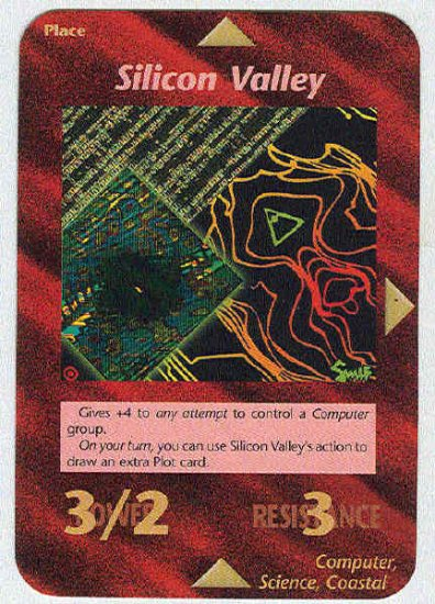 Illuminati Silicon Valley New World Order Game Trading Card