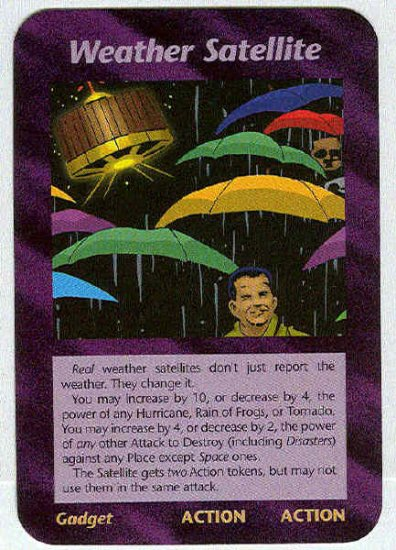 Illuminati Weather Satellite New World Order Game Card
