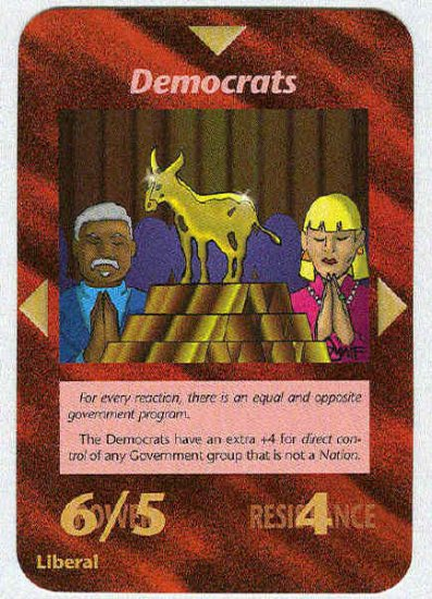 Illuminati Democrats New World Order Game Trading Card