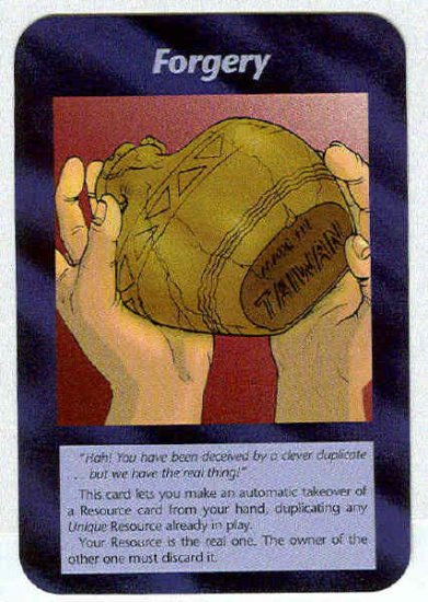 Illuminati Forgery New World Order Game Trading Card