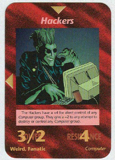 Illuminati Hackers New World Order Game Trading Card