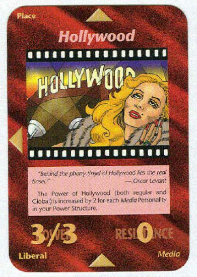 Illuminati Hollywood New World Order Game Trading Card