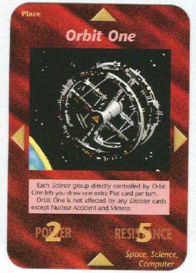 Illuminati Orbit One New World Order Game Trading Card