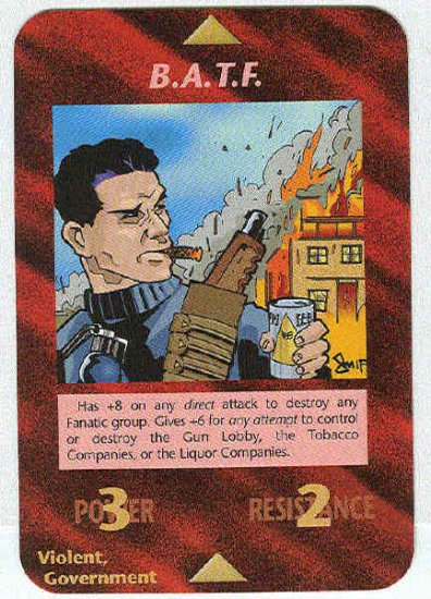 Illuminati B.A.T.F. New World Order Game Trading Card
