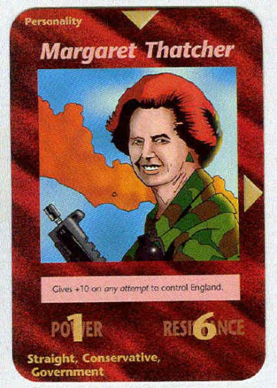 Illuminati Margaret Thatcher New World Order Game Card