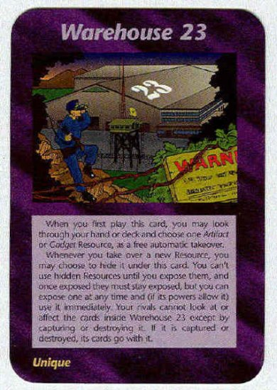 Illuminati Warehouse 23 New World Order Game Trading Card