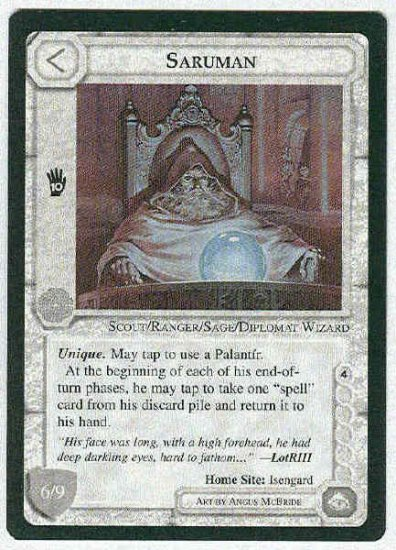 Middle Earth Saruman Wizards Limited Fixed Game Card