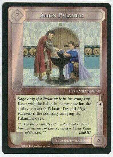 Middle Earth Align Palantir Wizards Uncommon Game Card