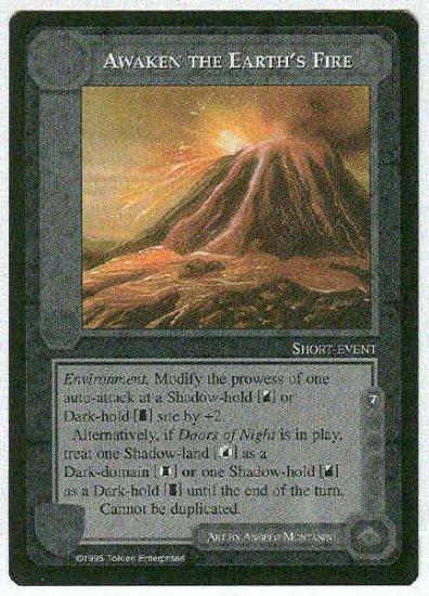 Middle Earth Awaken The Earth's Fire Uncommon Game Card