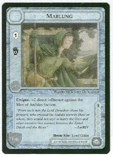 Middle Earth Mablung Wizards Limited Uncommon Game Card
