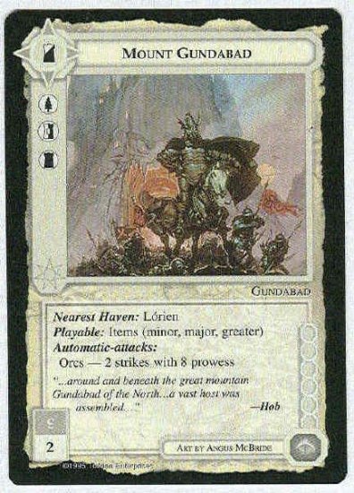 Middle Earth Mount Gundabad Wizards Uncommon Game Card