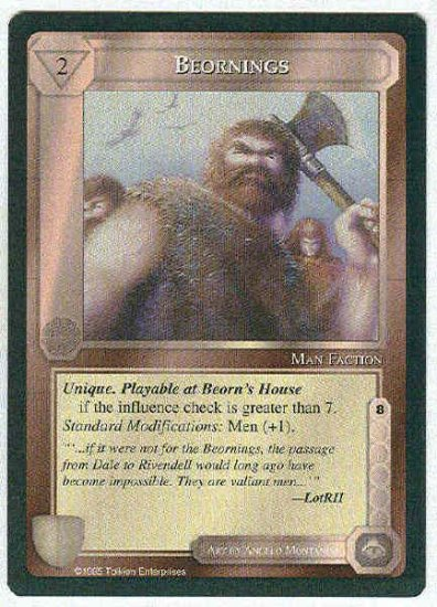Middle Earth Beornings Wizards Limited Fixed Game Card
