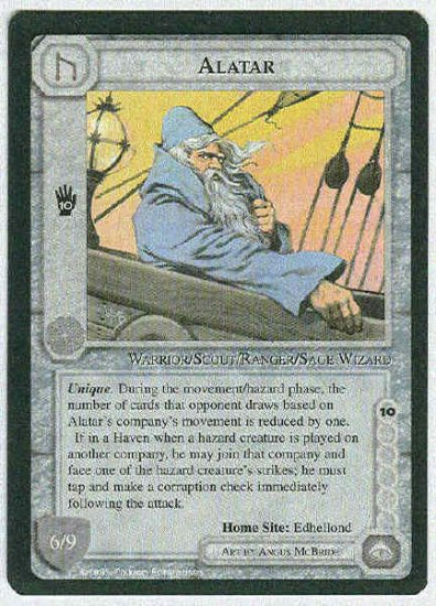 Middle Earth Alatar Wizards Limited Fixed Game Card