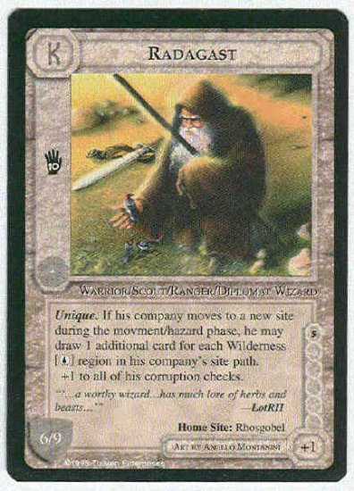 Middle Earth Radagast Wizards Limited Fixed Game Card