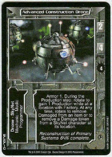 Terminator CCG Advanced Construction Drone Uncommon Card
