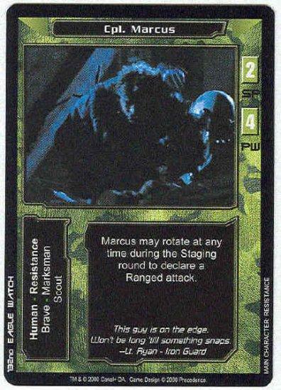 Terminator CCG Cpl. Marcus Uncommon Game Card