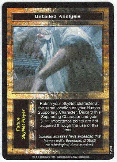 Terminator CCG Detailed Analysis Uncommon Game Card