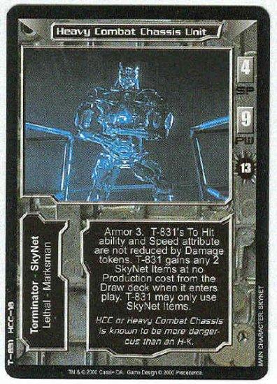 Terminator CCG Heavy Combat Chassis Unit Uncommon Card
