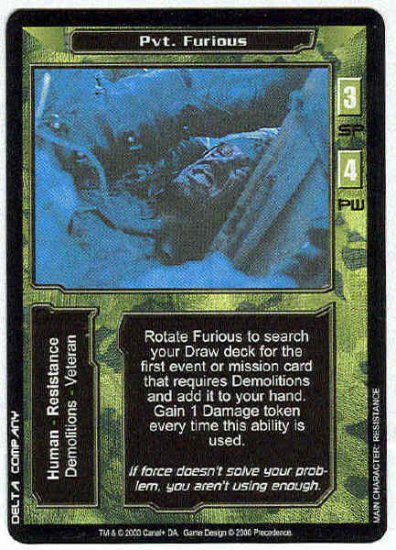 Terminator CCG  Pvt. Furious Uncommon Game Card