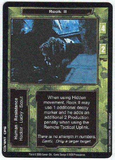 Terminator CCG Rook II Precedence Uncommon Game Card
