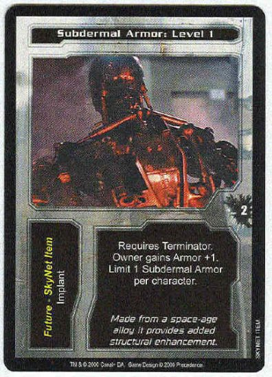 Terminator CCG Subdermal Armor Level 1 Uncommon Card