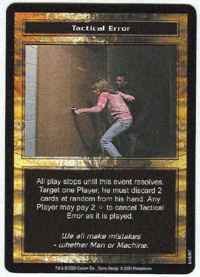 Terminator CCG Tactical Error Uncommon Game Card