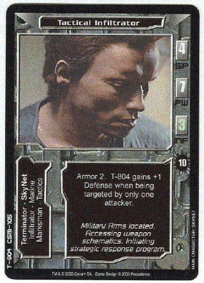 Terminator CCG Tactical Infiltrator Uncommon Game Card