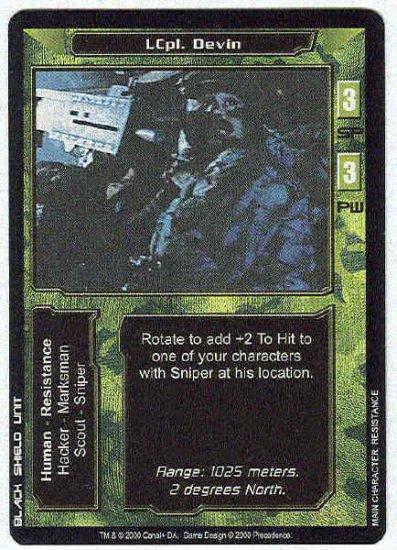 Terminator CCG LCpl. Devin Uncommon Game Card