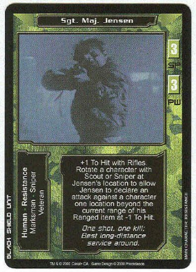 Terminator CCG  Sgt. Maj. Jensen Uncommon Game Card