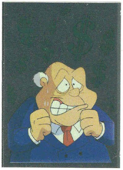 Animaniacs Foil Sticker #5 Ceo Plotz Chase Trading Card