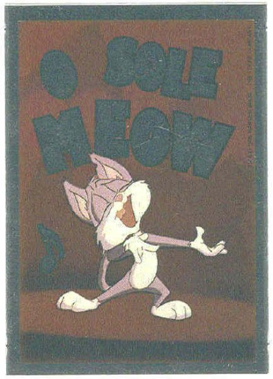 Animaniacs Foil Sticker #11 Rita And Runt Chase Trading Card