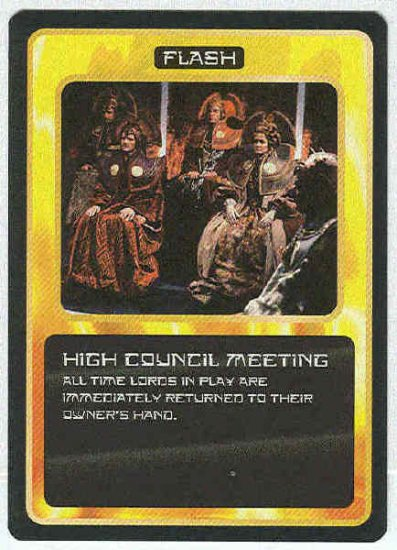 Doctor Who CCG High Council Meeting Uncommon Card