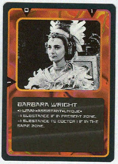 Doctor Who CCG Barbara Wright Uncommon Card Jacqueline Hill