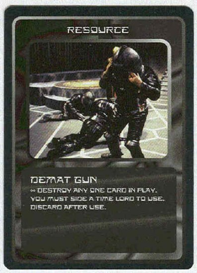Doctor Who CCG Demat Gun Uncommon Game Trading Card