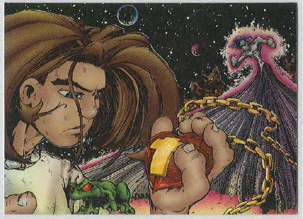 Creed 1996 Sticker #19 Chromium Parallel Trading Card