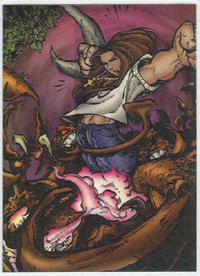 Creed 1996 Sticker #31 Chromium Parallel Trading Card