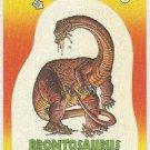 Dinosaurs Attack #4 Brontosaurus Sticker Trading Card
