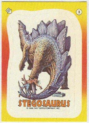 Dinosaurs Attack #8 Stegosaurus Sticker Trading Card