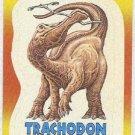 Dinosaurs Attack #9 Trachodon Sticker Trading Card