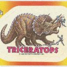 Dinosaurs Attack #10 Triceratops Sticker Trading Card