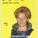 Dune 1984 Sticker #4 Chase Trading Card Feyd Rabban