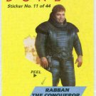 Dune 1984 Sticker #11 Chase Card Rabban The Conqueror