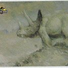 Jurassic Park Gold Art #4 Chase Card Triceratops Eating Flowers