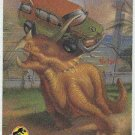 Jurassic Park Gold Art #5 Chase Card Triceratops Vs A Van