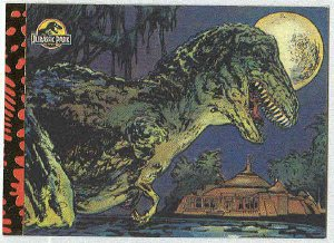 Jurassic Park Gold Art #6 Chase Card T. Rex Goes For A Swim