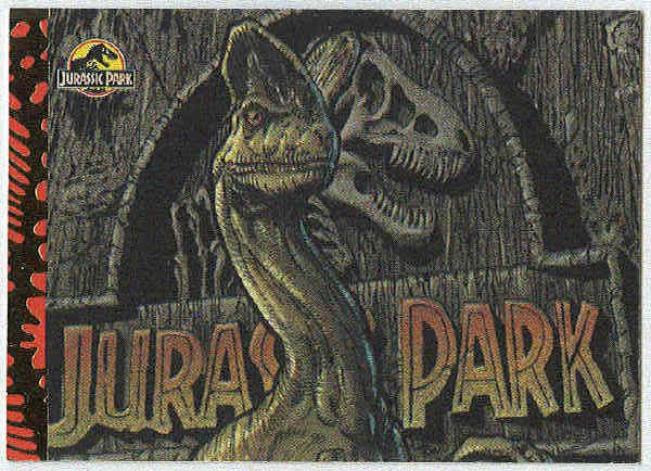 Jurassic Park Gold Art #8 Chase Card Dinosaurs At The Gate