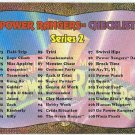 Power Rangers Series 2 #144 Power Foil Card Checklist