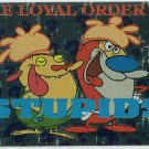 Ren and Stimpy 1993 #38 Sticker Puzzle Trading Card